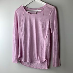 RBX Pink Workout top long sleeve size small